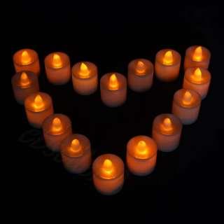 LED Candle Orange Light Flameless Tea Light Wedding Bar