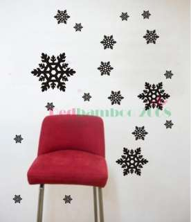 various colors) Snowflake Decor Mural Art Wall Sticker Decal Y360