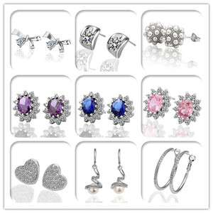 Charming Swarovski Crystal Stud&Dangle Noble Elegance Earrings