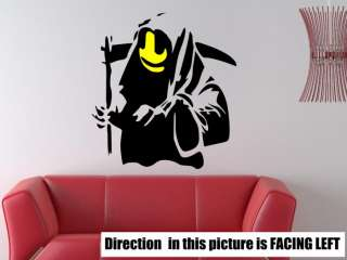 Banksy Graffiti Grim Reaper Death Art Wall Decal Sticker  FREE P&P