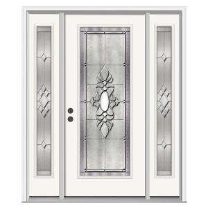 JELD WEN Langford 36 in. x 80 in. Primed White Prehung Right Hand Full