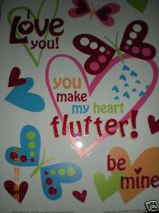 Valentine Window Clings 12X17 You make my heart flutter