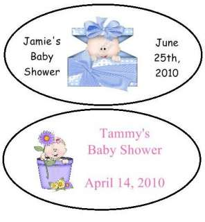 21 BABY SHOWER OVAL LABEL PARTY FAVOR 200+DESIGNS
