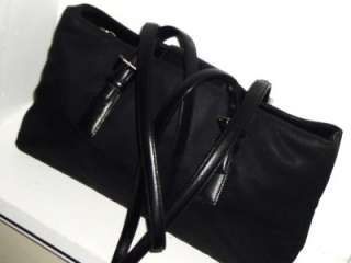 Microfiber & Leather Satchel Shoulder Bag Handbag #B2K 7426 RARE