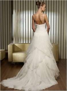 Fashion Straps Wedding Dress Bride Ball Gown Size Custom