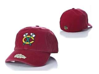 NWT New Chicago Blackhawks Franchise Fitted RED Hat Tomahawk XXL
