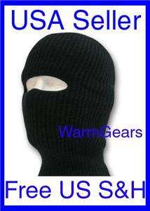 DOUBLE LAYERED EXTRA WARM KNIITED BLACK SKI MASK