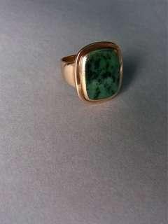 Herrenring 585er Gold grüner Stein