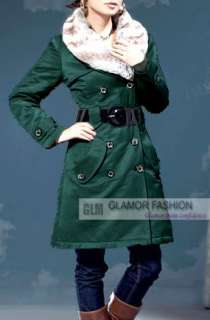 New Womens Winter Long Coat Outwear #GF005 Free p&p