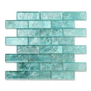 "Glass Tile & Mosaics Silver Brick Pattern 1""x2"""