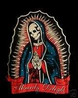 GOTHIC MARIA SKULL Tattoo Madonna Psychobilly T Shirt M