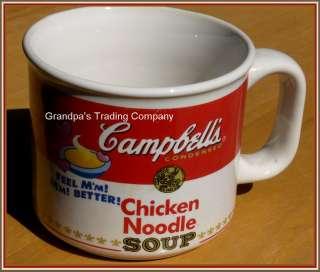 Vintage Campbells CHICKEN NOODLE SOUP Label Ceramic Mug