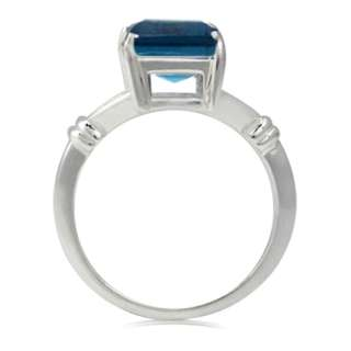 DISCOUNT BIG Solitaire Octagon Topaz 925 Sterling Silver Ring Pick