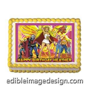 SHE RA PRINCESS OF POWER Edible Birthday Cake Image Cupcake Topper