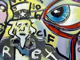 Abstract MAD UNCLE SAM Pop Art Painting Graffiti painting RWJR