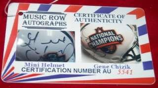 GENE CHIZIK Signed NFL Mini Helmet Autograph 2010 National Champions