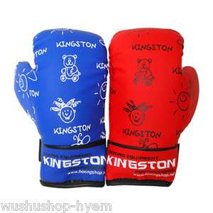 KINGSTON]Kids Children boxing MMA gloves Red,Blue Cute Free size Free