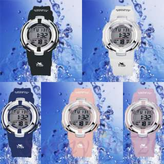 Trendy OHSEN Sports Digital Water Proof Lady Watch Pink