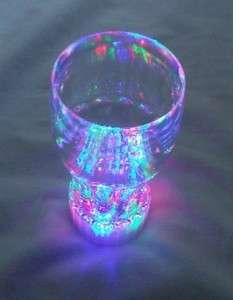 12 ps Multi Color Flashing LED Light up Blinking Drinking Glasses