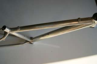Up for auction is an aluminum Access mountain bike frame.
