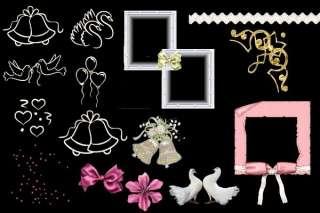 150 Hochzeitsmotive   für Collagen zum selber basteln