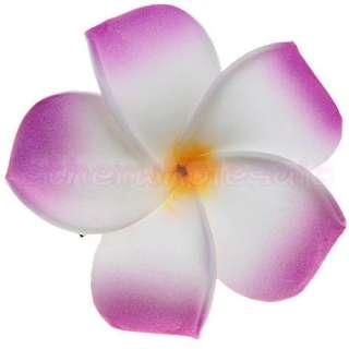 Hawaiian Plumeria Flower Foam Hair Clip Bridal Hairclip