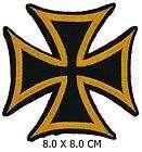 MM005 Golden Eisernes Kreuz Aufnäher Biker MOTOGP PATCH Artikel im