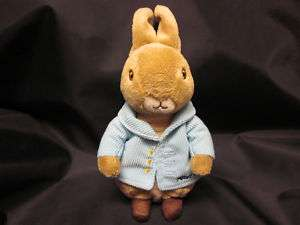 PETER RABBIT BEANIE BEATRIX POTTER VELVETEEN PLUSH EASTER 07 BLUE