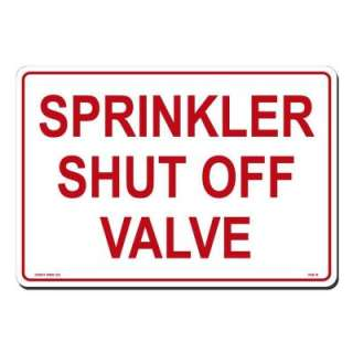 Lynch Sign Co. 14 In. X 10 In. Sign Red on White Plastic Sprinkler