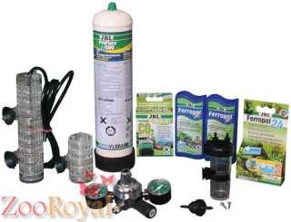 JBL ProFlora u401 CO2 Anlage mit 500g Einwegflasche für Aquarium bis