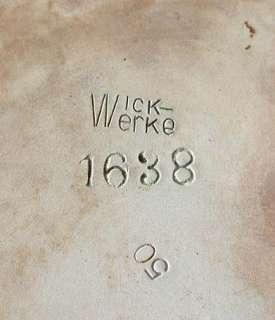 Steingut Bowle Bowletopf Wick Westerwald Jugendstil