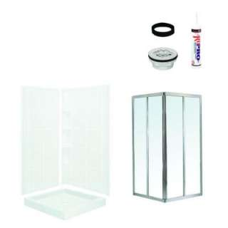 in. Shower Kit in White with Chrome Trim 7205 1906S
