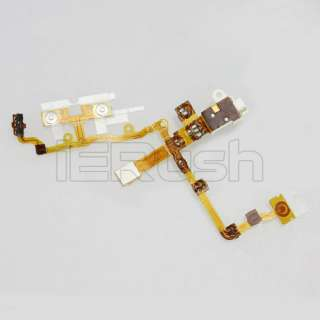 Earphone Jack Power Volume Switch Flex Cable For iPhone 3GS