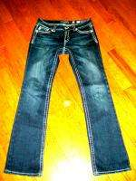 MISS ME SZ 31 THICK STITCH BOOTCUT JEANS