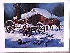 WINTER WARMTH WESTERN LITHOGRAPH NORBERTO REYES S/N