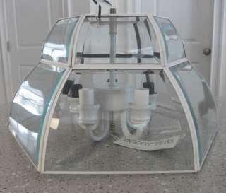 MURRAY FEISS 5 Light Clear Glass WHITE Flush Ceiling