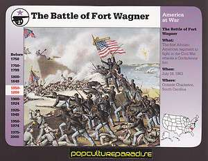 THE BATTLE OF FORT WAGNER SOUTH CAROLINA 1863 Civil War GROLIER CARD