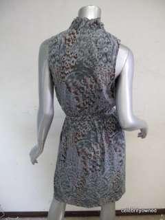 Twelfth St. Cynthia Vincent Blue Ruffle Top Dress 6