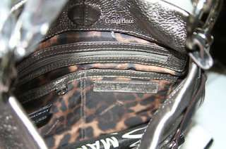 & Metallic Croco Embossed Leather Crossbody Bag Black A213261