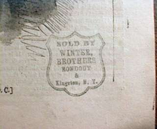 1865 Illustrated Civil War newspaper w RARE STAMP of sales outlet on