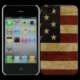 New American Flag Hard Cover Case Skin for Apple iPhone 4 4G 4S