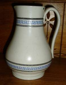 Old Art Pottery Pitcher w/ Greek Key Design