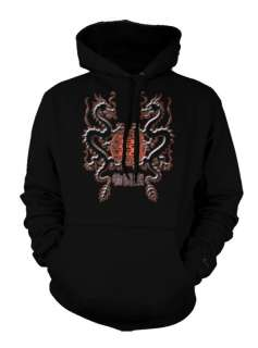 Chinese Dragon And Symbol Tattoo Trendy Hoodie