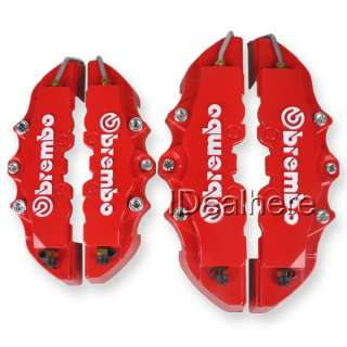 +Rear Disc Brake Caliper Cover Brembo Universal ABS 4pcs Red