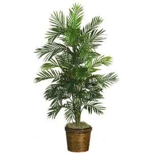 NearlyNatural 5263 0308 54 Silk Areca Palm Tree with Basket in Green