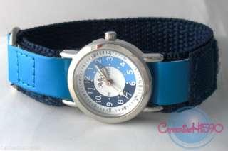 Childrens/Kids Velcro/Buckle Time Teacher/Tutor Watch