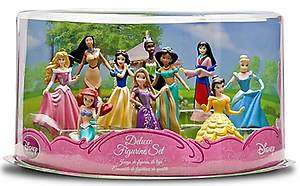 10 Princesses Figurines Ariel Rapunzel Belle Cinderella Aurora Set