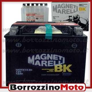 BATTERIA YTX14 BS PIAGGIO 250 400 BEVERLY TOURER E3 2008 2009 MAGNETI