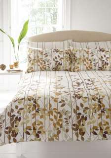 GREEN & BROWN KING SIZE DUVET QUILT COVER BED SET