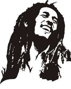 Bob Marley Wall Art Sticker Vinyl. 80x62cm.